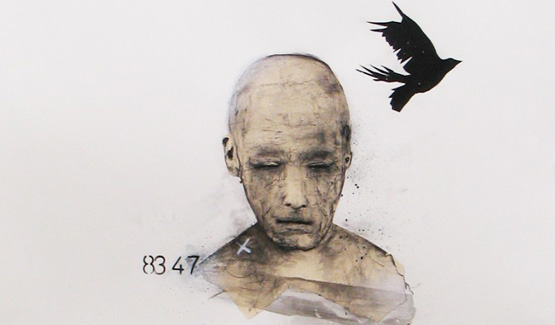 Marc Laberge peintre contemporain québécois - dessins Réflexion