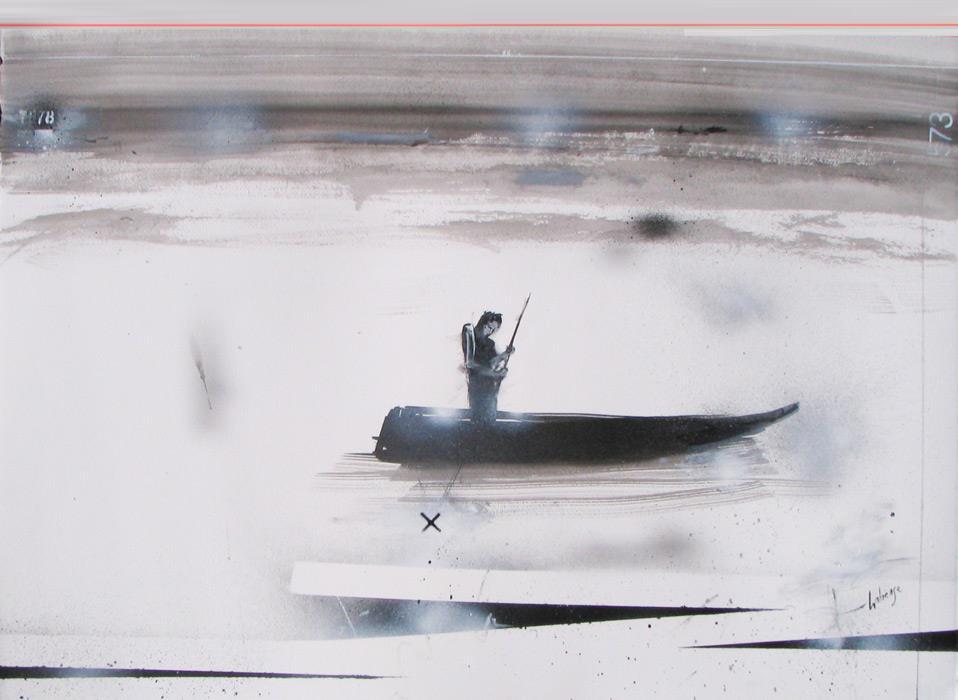 Dessin La barque solaire par Marc Laberge
