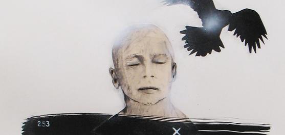 Enracinement lent - dessin par le peintre québécois Marc Laberge