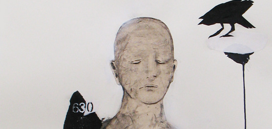 Le guide - dessin par le peintre québécois Marc Laberge