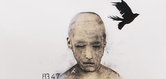 Réflexion - dessin par le peintre québécois Marc Laberge